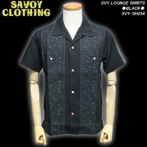 SAVOY CLOTHINGサボイクロージング◆SVY LOUNGE SHIRTS◆◆BLACK◆SVY-SH254