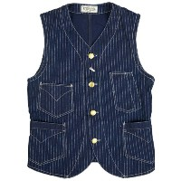 FREEWHEELERS フリーホイーラーズ CONDUCTOR VEST LATE 1800s STYLE WORK CLOTHING UNION SPECIAL OVERALLS INDIGO...
