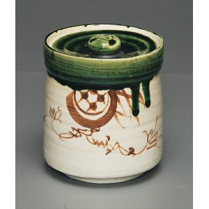 織部 水指 oribe mizusashi/fresh-water container