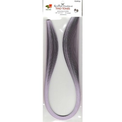 Quilled Creations クイリングペーパー Two-tone 3mm 50枚入 Purple