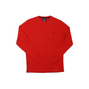 POLO RALPH LAUREN Waffle-Knit Thermal L/S T-SHIRT (Red×Navy)ポロラルフローレン/長袖サーマルT-シャツ/赤