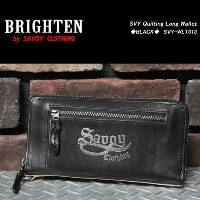 SAVOY CLOTHINGサヴォイクロージング◆SVY Quilting Long Wallet◆◆BLACK◆SVY-WLT013