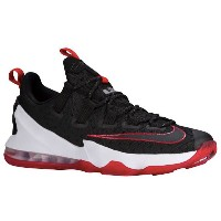 "Nike LeBron XIII 13 Low ""Bred"" メンズ Black/University Red/White ナイキ バッシュ レブロン・ジェームス ローカット"