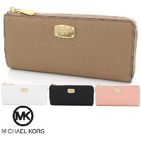 マイケルコース 長財布 レディース MICHAEL KORS Wallet カジュアル JET SET TRAVEL LARGE THREEQTR ZIP 35T6GTVE3L