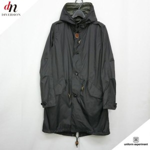 16SS uniform experiment HOODED MILITARY COAT モッズコート 2 【中古】 DNS-0713