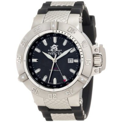 インビクタ 時計 インヴィクタ メンズ 腕時計 Invicta Men's 1151 Subaqua Noma III GMT Black Mother-Of-Pearl Dial Black...