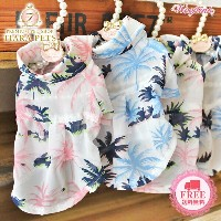 WOOFLINK (ウーフリンク) MY VACATION SHIRTS【犬服 小型犬 ウエア セレブ トップス シャツ】