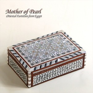 Mother of Pearl エジプト螺鈿のジュエリーボックス・長方形 Middle size