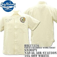 BUZZ RICKSON'S バズリクソンズスヌーピーコラボBR×PEANUTS WHITE CHAMBRAY WORK SHIRT SNOOPY NAVAL AIR STATIONBR37326...