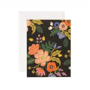 RIFLE PAPER CO. | LIVELY FLORAL BLACK | グリーティングカード
