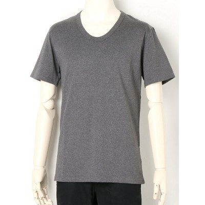 LITHIUM HOMME GIZA COTTON U-NECK T-SHIRTS リチウム オム/ファム カットソー【送料無料】