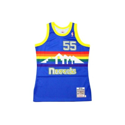 MITCHELL&NESS AUTHENTIC THROWBACK JERSEY (DENVER NUGGETS 1991-92/DILEMBE MUTOMBO: BLUE)ミッチェル&ネス...