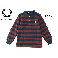 FRED PERRY KIDS STRIPED PIQUE SHIRT■SY9535-MG【キッズ トップス シャツ ポロシャツ 子供 子ども フレッドペリー 】■4014945【02P03Dec16...
