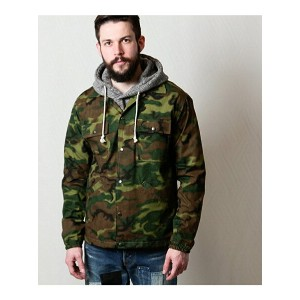 【SALE/20%OFF】MR.OLIVE CAMOUFLAGE RIP-STOP CLOTH / ONE WASH COACH JACKET ミスターオリーブ コート/ジャケット【RBA_S】...