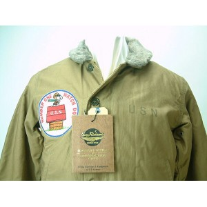"BUZZ RICKSON'S x PEANUTS (バズリクソンズ x ピーナッツ) USN N-1 DECK JACKET ""NAVY DEPARTMENT""SNOOPY PATCH送料無料 ..."