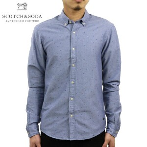 スコッチアンドソーダ SCOTCH&SODA 正規販売店 メンズ 長袖シャツ Classic shirt in rough oxford quality with all-over printed...