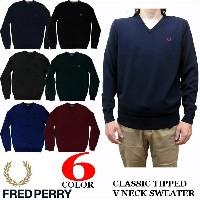 FRED PERRY CLASSIC TIPPED V NECK SWEATER K7210 フレッドペリー Vネック セーター