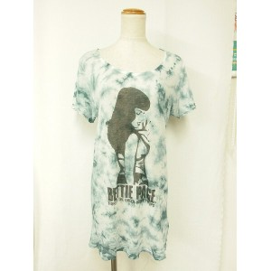 HYSTERIC GLAMOUR(ヒステリックグラマー) Tシャツ 白×青系【中古】