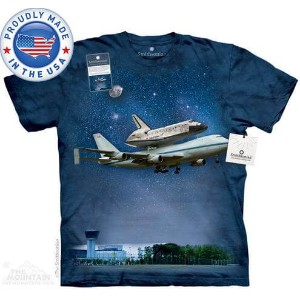 The Mountain Tシャツ The Smithsonian Space Shuttle Delivery (宇宙 スペースシャトル メンズ レディース 男女兼用) 2L-4L 【輸入品】...