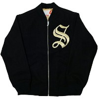 Supreme (シュプリーム) OLD ENGLISH ZIP VARSITY JKT