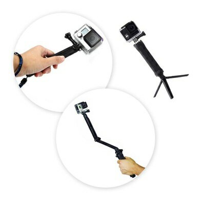 Glift(TM) GoPro互換品 3-in-1 自撮り棒 カメラグリップ 延長アーム 三脚 3-in-1 Camera Grip, Extension Arm and Tripod Mount...
