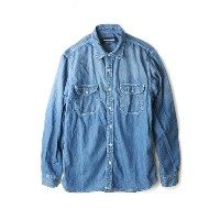 LAUNCH BASIC TRADE ラウンチベーシックトレード LONG SLEEVE WASHED WORK DENIM SHIRTSロングスリーブ ウォッシュドワークデニムシャツWASHED...
