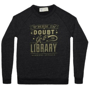 【Out of Print】 Hermione Granger / When in doubt, go to the library Sweatshirt (Vintage Black)
