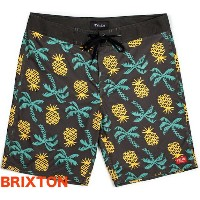 Brixton Barge Boardshort Washed Black W30 ボードショーツ 送料無料