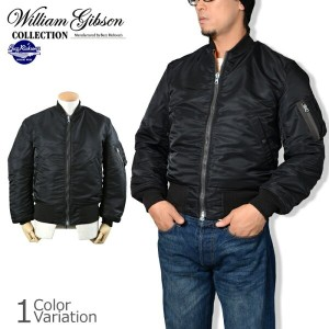 "Buzz Rickson's(バズリクソンズ) ""WILLIAM GIBSON COLLECTION"" TYPE BLACK MA-1 ""D-TYPE"" フライトジャケット BR13655"