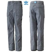 2014 ADIDAS SNOWBOARDING DEER RUN 2L PANT L TECH GREY [並行輸入品]