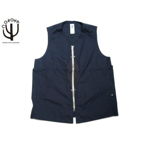 【スーパーSALE期間限定30%OFF!】CORONA(コロナ)/#CV032-17-03 T/C WEATHER CLOTH EXPLORER'S UTILITY OUTER VEST/navy...