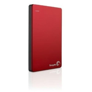 Seagate シーゲート Backup Plus Slim スマホ対応 ポータブル HDD with Mobile Device Backup USB 3.0 (2TB, Red) [並行輸入品]