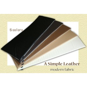 """A Simple Leather"" 低反発フリークッション【Modern Fabric】 【色:サイレントブラック】"