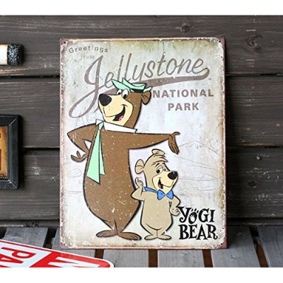 ブリキ看板 Greetings from Jellystone NATIONAL PARK YOGI BEAR