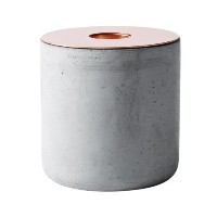 MENU Chunk of Concrete Candleholder, Large, Copper by Menu [並行輸入品]