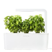Click & Grow Indoor Smart Herb Garden with 3 Basil Cartridges, White Lid [並行輸入品]