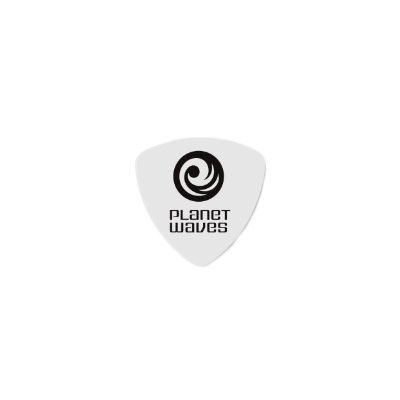 Planet Waves by D'Addario プラネットウェーブス ピック 2CWH4-25 Celluloid White 0.70mm オニギリ型 25枚入り (国内正規品)