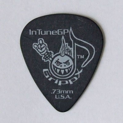 In Tune Guitar Picks DGP1-B73 GrippX-Xb 0.73mm Black ピック×12枚