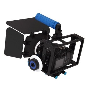 Koolertron DSLR Camera CAGE RIG+Top Handle+15mm Aluminum Rod Block Plate+Follow Focus+Matte Box For...