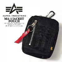 (アルファインダストリーズ)ALPHA INDUSTRIES MA-1 JACKET POUCH BLACK ONE