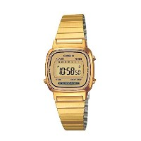 時計 Casio カシオ Women's LA670WGA-9 Gold Stainless-Steel Quartz Watch with Digita...