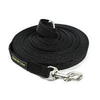 Dean & Tyler Track Single Ply Black Nylon 100-Feet by 3/4-Inch Dog Leash with a Ring on Handle and...