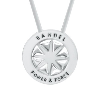 BANDEL necklace(バンデルネックレス) white×silver 45cm