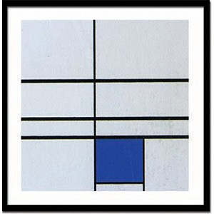 JIG アートポスター ピエト・モンドリアン Untitled,(composition with blue),1935(Silkscreen) IPM-14382