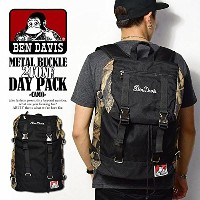 (ベンデイビス)BEN DAVIS公式 METAL BUCKLE 2TONE DAY PACK -CAMO- FREE