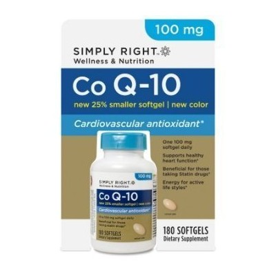 Simply Right Co Q-10 100 Mg-180 Softgels by Simply Right Wellness and Nutrition [並行輸入品]
