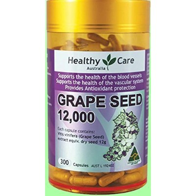 Healthy Care Grape Seed Extract 12000mg 300 Capsules by Nature's Care [並行輸入品]