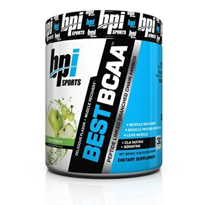 BPI Sports Best BCAA Peptide Linked Branched Chain Amino Energy Powder, Green Fusion, 10.58 Ounce...