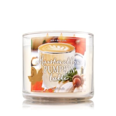 BathボディWorks Marshmallow Pumpkin Latte 3 Wick Scented Candle