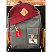 BANDWAGON 2TONE BACKPACK CHACOAL/BURGUNDY